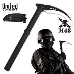 M48 Weapons ITEM: WEA-1150-A1 Scythe Sickle M48 TACTICAL KAMA WITH SHEATH  Sharp Steel Blade - SOLD INDIVIDUALLY Class Sak-24